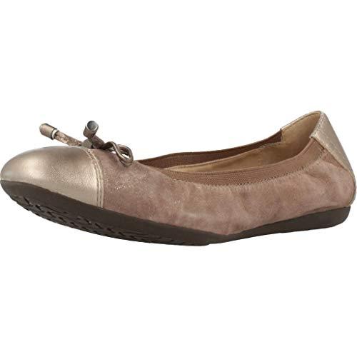 Geox Damen Ballerinas D LOLA 2FIT Braun 35 EU