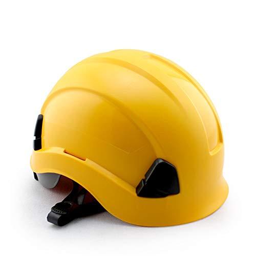 Fahrradhelm ABS Arbeitsversicherung Baustelle Bau Schutzhelm Außenlüftung Klettern Kletterhelm Antikollisionsisolationskappe für Männer Frauen Kinder Kinder ( Farbe : Gelb , Größe : Free size )