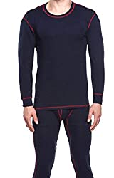 We&V Men Compression Light Weight Crew HeatGear Long Johns Set