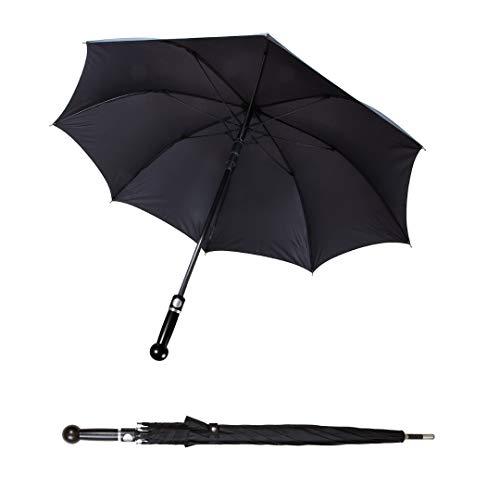 Sicherheitsschirm | Handlicher Security Regenschirm für alle Stockkampf-Techniken | Perfekt für Escrima Kali Arni Wing Tsun Karate | 78cm Lang wie Hanbo Kurzstock, BO oder Teleskop Abwehrstock