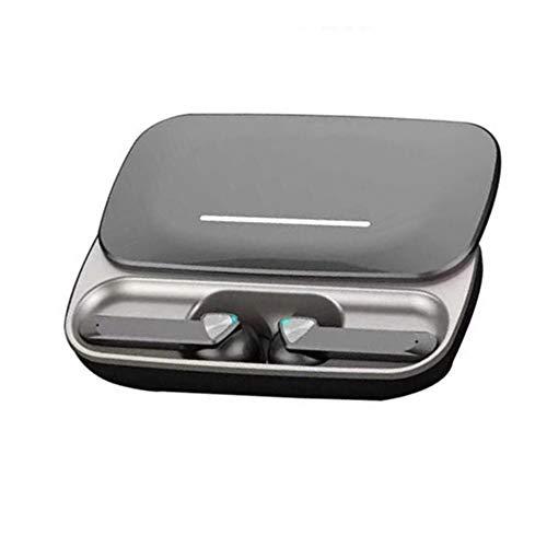 Auriculares Bluetooth Inalámbricos Baratos con microfono Deportivos Potente Deporte in Ear 5.0 Manos Libres Mujer Hombre niño niña TWS USB Wireless Earbuds Negro