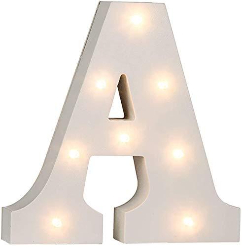ARCOIRIS Letras iluminados de madera blanca.16 cm madera (A