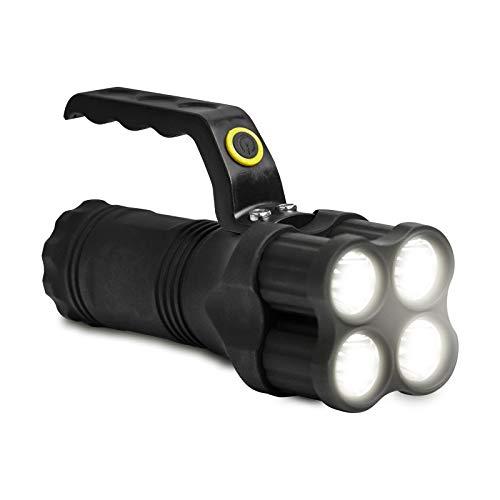 Eaxus® LED Handstrahler/Taschenlampe mit Griff - extrem hell, 200 Meter