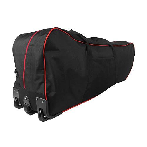 Opvouwbare tas, waterdicht, draagbaar, voor scooters, glad scrollen met 3 wielen, verstelbare schouderriem, 47,2 x 10,6 x 13,8 inch, scheurvast, waterdicht, voor reizen in het vliegtuig.