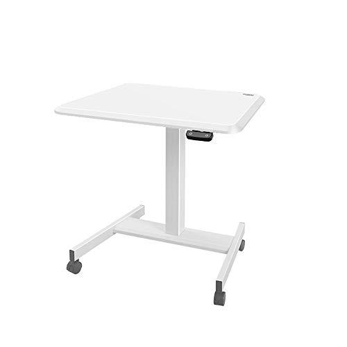 YBWEN Rednerpult Elektro-Aufzug Stehen Office Desktop Laptop Desk Mobile-Lecture-Plattform Laptop-Computer Steht (Farbe : White, Size : One Size)