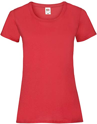 Fruit of the Loom Ss079m Camiseta, Rojo (Red), X-Large (Talla del Fabricante: X-Large) para Mujer