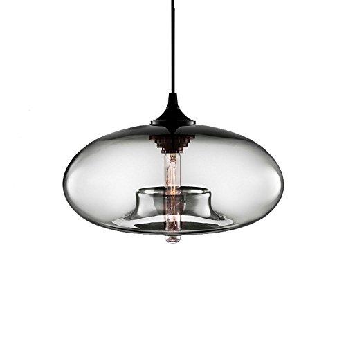 jahrgang Industrial Edison - Lámpara de techo de cristal