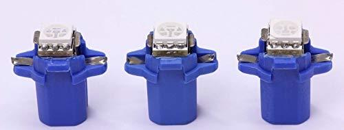 3x blaue high Power B8.3D SMD-LED Tachobeleuchtung Umbauset Plug and Play
