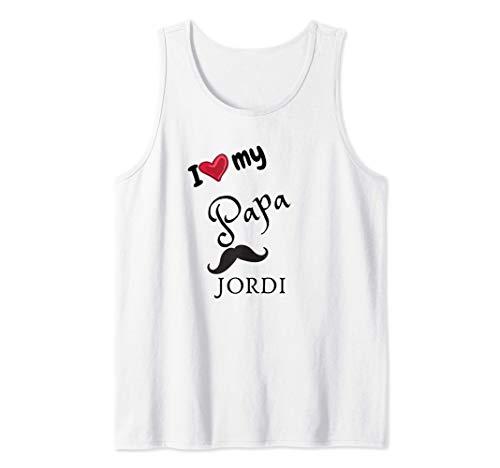 I love My Papa Adrian JORDI el mejor regalo para cumpleaños Camiseta...
