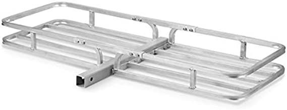 Guide Gear Hitch Cargo Carrier Mount Aluminum, Hitch Rack Basket for Vehicle, Car, Trailer