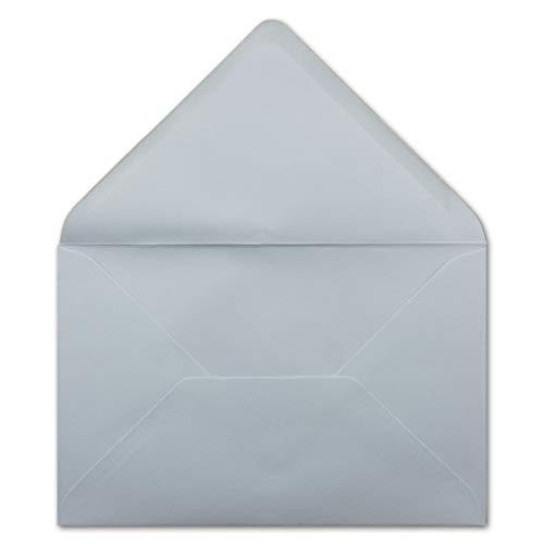 75 DIN B6 Briefumschläge Hellblau - 12,0 x 18,0 cm - 90 g/m² Nassklebung Post-Umschläge ohne Fenster für Hochzeit, Weihnachten & Einladungskarten