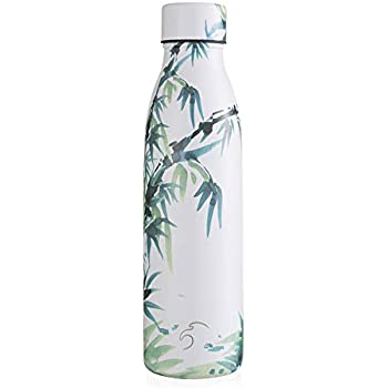 fitness 24 horas para deportes al aire libre picnic botella de agua de metal fr/ía yoga Botella de agua Noble de acero inoxidable con aislamiento t/érmico de bamb/ú de 500 ml camping