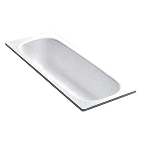 Smavit Bañera de acero esmaltado blanco 170 x 70 cm 🔥