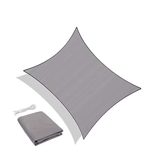 Sunnylaxx Wasserdicht Sonnensegel Sonnenschutz Garten - Rechteck 3x5m, UV-Schutz wetterbeständig Segel, Grau