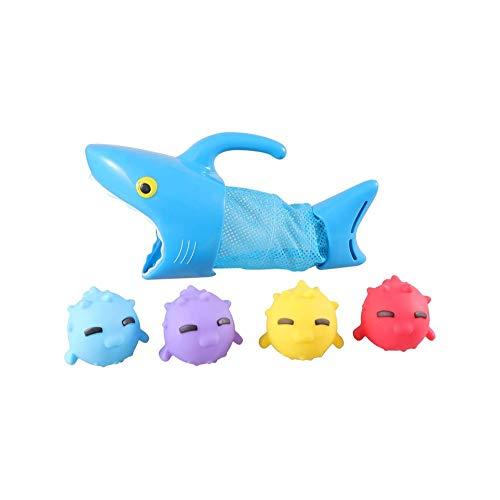 SYXX Kinder Lernspielzeug, Badewanne mit Wasserspielzeug, Baderaum Platschen Junge Kinder, Swimmingpool Badezimmer Fische fangen Spielzeug, Hai, der Fische isst Spielzeug