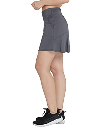 Westkun Falda Plisada De Tenis con CordóN EláStico Mujer Skort De Golf(Gris,M)
