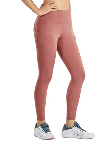 CRZ YOGA Women's Naked Feeling High Waisted Yoga Pants with Pockets Workout Leggings Camo - 25 Inches Light Reddish Brown 25' Small