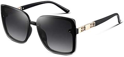 Mosanana Square Cat Eye Sunglasses for Women Fashion Oversized Trendy Trending Black Rimless product image