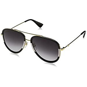 Fashion Shopping Gucci GG0062S 006 Gold 0062S Pilot Sunglasses Lens Category 3 Size 57mm