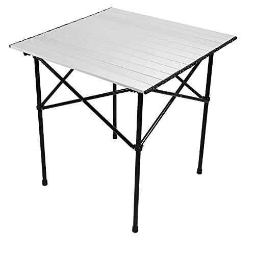 Eosnow Mesa Plegable, Mesa Plegable portátil Ligera fácil de Instalar con pies Antideslizantes para Acampar al Aire Libre