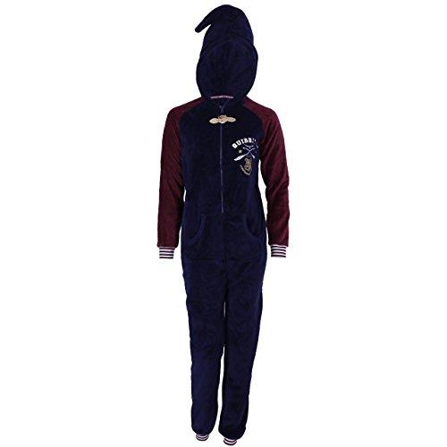 Harry Potter Quidditch Schlafanzug, Schlafoverall, Hausanzug, Einteiler, Onesie - 36-38 / UK 10-12 / EU 38-40