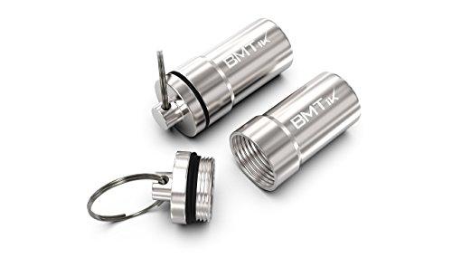 BMTick Geruchloser Mini-Aschenbecher-Kapsel (Groß, Silber) (Geruchlos) 2 Pack!