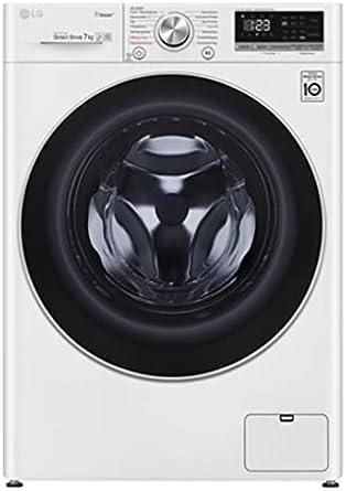 LG F2V4SLIM7 Lavadora Blanco/Negro, Solo 47 cm de profundidad