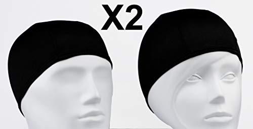 Emerpack 2X Cuffie da Nuoto in Tessuto per Piscina, Terme, Spa/Cuffia da Bagno in Poliestere per Donna o Uomo Adulto, Unisex/Taglia Unica Nero