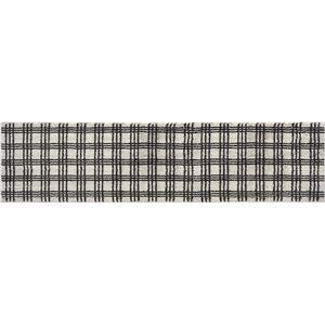 オカトー marle インテリアマット Nチェック柄 45×180cm アイボリー