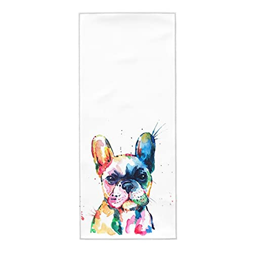 XWQWER French Bulldog Puppy Hand Towels 27.5 x 12 in Ultra Soft Highly Absorbent Dish Guest Towel Bathroom Kitchen Multipurpose Towel for Gym, Hotel, Spa and Home Decor