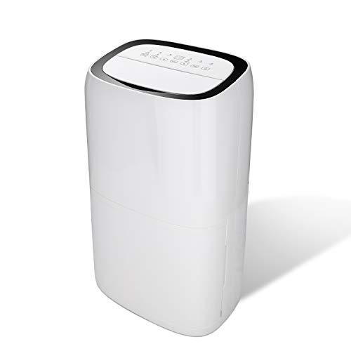 Komesuah luftentfeuchter Timer Bautrockner Leiser Wäschetrocknung Entfeuchter elektrisch Luftreiniger für Büro Bad (26L)