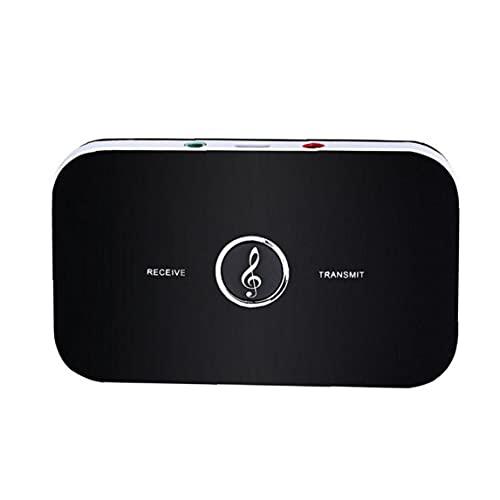 GGOOD Adaptador de Audio inalámbrico Bluetooth Receiver Transmitter B6 TV para Altavoces Auriculares Receptor de música remitente Equipos de vídeo Negro
