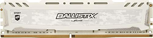 Crucial Ballistix Sport LT BLS8G4D32AESCK 3200 MHz, DDR4, DRAM, Desktop Gaming Speicher, 8GB, CL16 (Weiß)