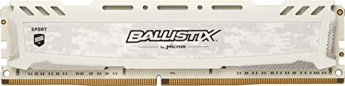 Crucial Ballistix Sport LT BLS16G4D32AESC 3200 MHz, DDR4, DRAM, Desktop Gaming Speicher, 16GB, CL16 (Weiß)