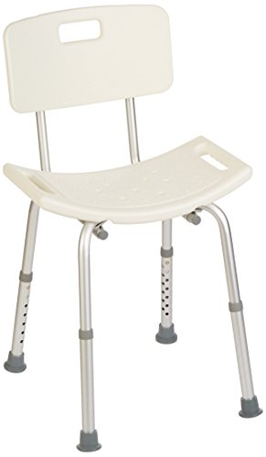 Homecraft Shower Chair with Back, Shower Seat with Removable Back & Adjustable Legs, Easy to Install Bath Stool for…