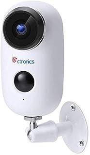 [1080P] Telecamera di Video Sorveglianza Batteria Ricaricabile, Ctronics Wifi Senza Fili Telecamera IP con Sensore di Movi...