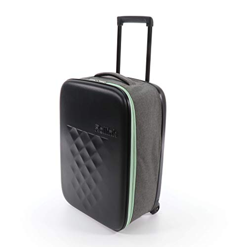 Rollink Flex21 Spring Handgepäck - Der dünnste Koffer der Welt *PATENTIERT* - Hartschalen-Koffer, Trolley, Rollkoffer, Reisekoffer, Bordgepäck für Ryanair, easyJet, Lufthansa usw. 55cm (Mint)