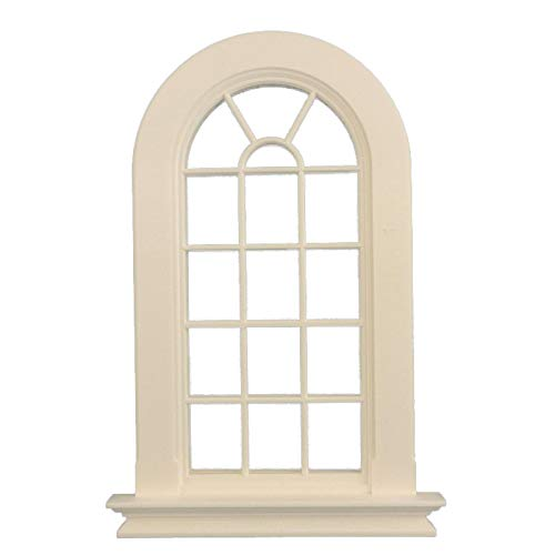 Melody Jane Dolls Houses White Plastic Georgian Tall Arched Window 16 Pane 1:12 DIY Builders