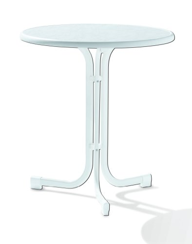 Sieger 208/C-M Boulevard-Klapptisch mit mecalit-Pro-Platte Ø 70 cm, Stahlrohrgestell champagner, Tischplatte…