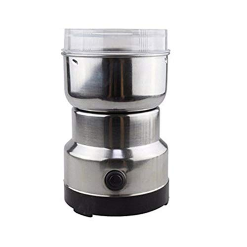YXQQ Moulin À Café, Machine Multifonction Smash Machine, Acier Inoxydable Premium Moteur sans Bruit Couvercle Transparent One Button One Bouton, pour Moulin Spice Haricots 110V / 220V