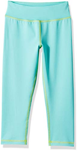 Amazon Essentials Girl's Active Capri Legging, Aqua, XXL