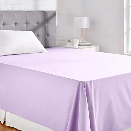 AmazonBasics 'Everyday' Bettlaken aus 100% Baumwolle, 230 x 260 cm - Lila