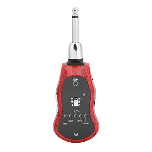 Acogedor Kabelloses Gitarrensystem, E-Gitarreneffektor, Bluetooth-Gitarreneffektor - Tragbarer, wiederaufladbarer, langlebiger USB-Bluetooth-5-Klangmodus, 6,35-mm-Gitarren-Synthesize-Anschluss