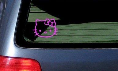 Aufkleber / Autoaufkleber / Sticker / Decal HELLO KITTY - Cat Feline - Car, Truck, Notebook, Vinyl Decal Sticker #1093 | Vinyl Color: Pink