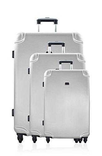 GEORGES RECH Juego de maletas, plata (Plateado) - BD-1099