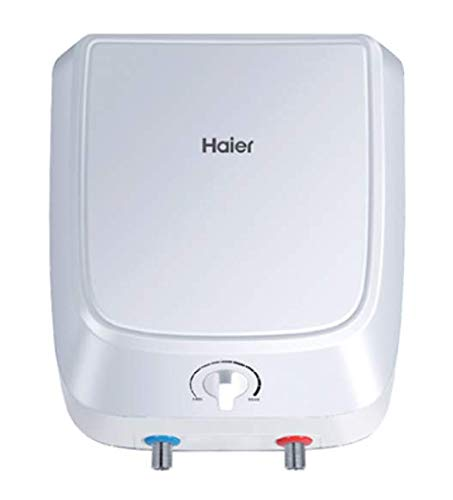 Haier ES10V-Q1 10-Litre Horizontal Water Heater (White/Blue)