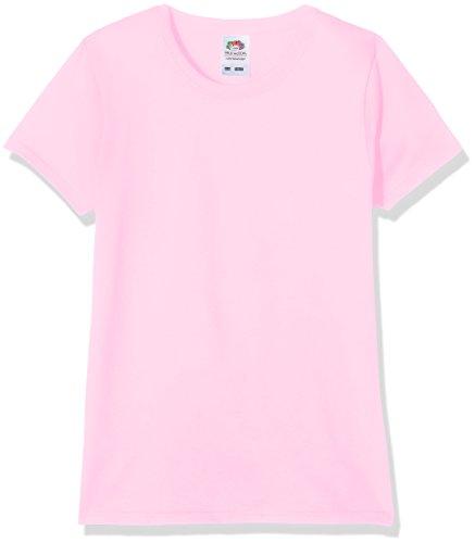 Fruit of the Loom Valueweight - T-Shirt Fille, Rose (Light Pink 52), 9/11 ans