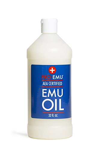 PRO EMU OIL (32 oz) All Natural Emu Oil - AEA Certified - Made In USA Best All Natural Oil for Face, Skin, Hair and Nails.