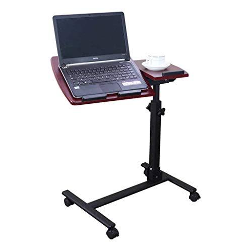 JIAX Inklapbare computertafel Klaptafel in hoogte verstelbaar, draagbare laptopstandaard bureau met muismat in hoogte verstelbaar 360 ° draaibare vastzetwielen