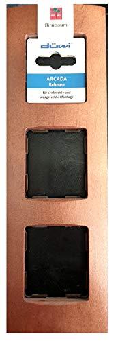 Düwi Rev Arcada 38437 5 - Marco embellecedor de madera de peral (3 orificios)